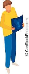 Icono de diseño gráfico, estilo isometrico