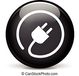 Icono de enchufe eléctrico