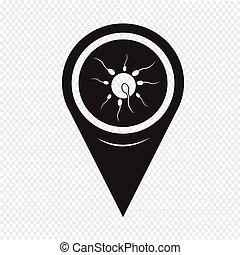 Icono de esperma humano