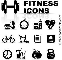 icono de fitness negro