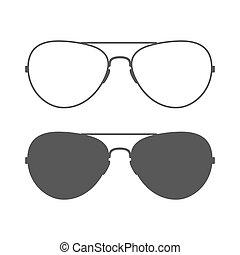 Icono de gafas de sol Aviador