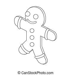 Icono de hombre de jengibre, estilo de esquema