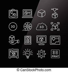 Icono de impresión 3D