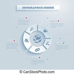 Icono de información de papel vectorial