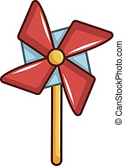 Icono de juguete, estilo de dibujos animados