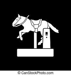 icono de la máquina de caballos