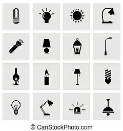Icono de luz negra Vector