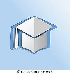 icono de mortero de graduación