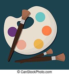 Icono de paleta de pintura
