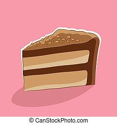 icono de pastel en una ilustración de vectores rosa