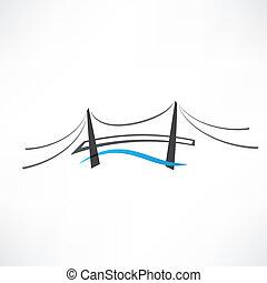 icono de puente de carretera abstracto