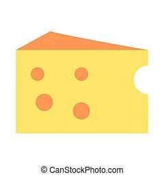 icono de rebanada de queso