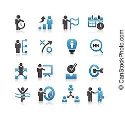 Icono de recursos humanos de negocios