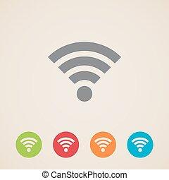 Icono de red inalámbrica