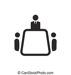 icono de reunión de negocios