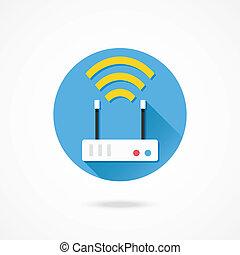 Icono de router inalámbrico Vector