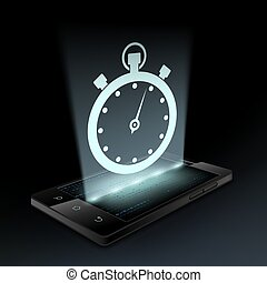 icono de Stopwatch. Holograma.