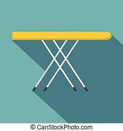 Icono de tabla de planchar, estilo plano