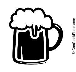 icono de taza de cerveza