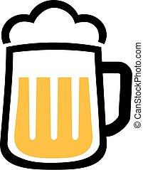 icono de taza de cerveza con espuma