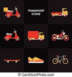 Icono de transporte plano