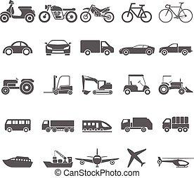 Icono de transporte. Vector