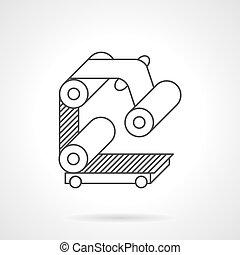 Icono de vector de vectores de línea plana