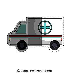 icono de vehículo de ambulancia