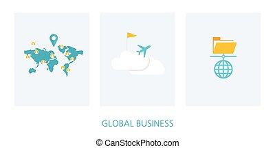 Icono del concepto global de negocios