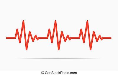 Icono del corazón - ilustración vectorial.