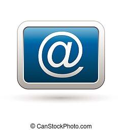 Icono del correo en el botón azul