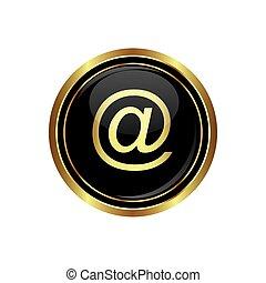 Icono del correo en el negro