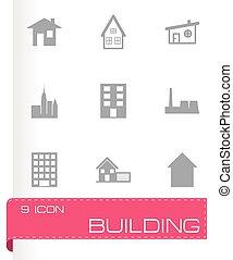 Icono del edificio negro Vector