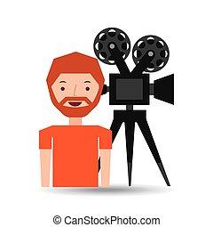 Icono del hombre de dibujos animados