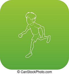 Icono del hombre que corre, estilo de esquema