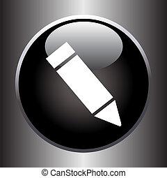 Icono del lápiz en el botón negro
