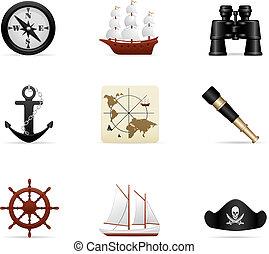 icono del viaje naval listo
