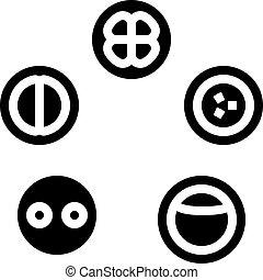 icono, desarrollo, célula, ilustración, glyph, vector