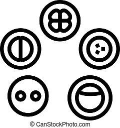 icono, desarrollo, célula, ilustración, vector, línea