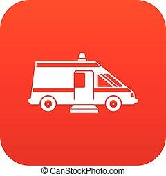 Icono digital de ambulancia