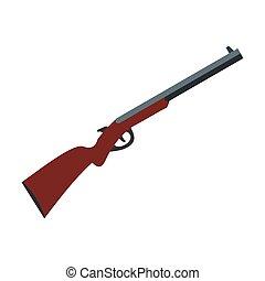 icono, escopeta, caza