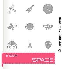 Icono espacial Vector fijado