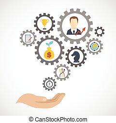 icono, estrategia, planificación, empresa / negocio, plano