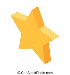 icono estrella de cinco puntas de oro para cosas favoritas en las redes sociales