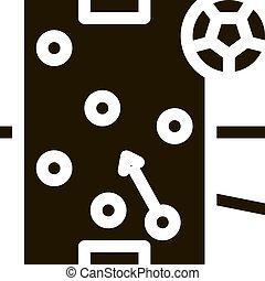 icono, futbol, ilustración, escritorio, estrategia
