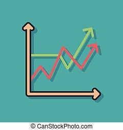Icono gráfico de negocios