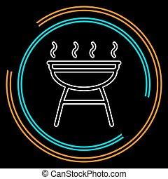 Icono Grill - vector fiesta de barbacoa - picnic símbolo