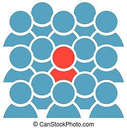 icono grupal con figura roja