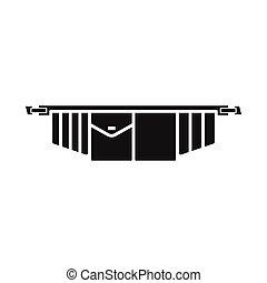 icono, ilustración, herramienta, tela, toolbag, stock., vector, elemento, signo., cinturón