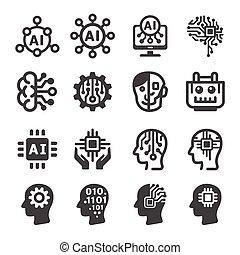 icono, inteligencia artificial